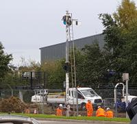 Signal replacement at Elgin.<br> <br><br>[Crinan Dunbar&nbsp;14/10/2017]
