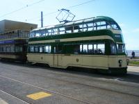 Historic trams on a wedding hire in Blackpool on the 15th of September.<br><br>[Veronica Clibbery&nbsp;15/09/2017]