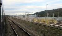 A 2015 progress shot of the Maliphant Sidings, the new facilities being built at Swansea on the old carriage sidings.<br><br>[Alastair McLellan&nbsp;17/10/2015]