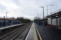 The rebuilt station at Bicester Town, looking to Oxford.<br><br>[Peter Todd&nbsp;09/01/2016]