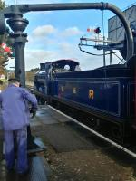Taking on water at Boat of Garten at the north end on the member's special.<br><br>[Alan Cormack&nbsp;05/11/2017]