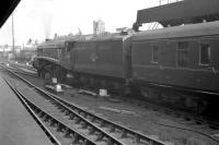 A4 Pacific no 60011 <I>Empire of India</I> leaves Newcastle Central in the spring of 1961 with an ECML service.<br><br>[K A Gray&nbsp;//1961]