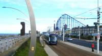 A modern Flexity tram passing the Pleasure Beach - 17th Sept.<br><br>[Veronica Clibbery&nbsp;17/09/2017]