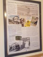 WRVS poster at Helmsdale. This poster has a quote from Geordie Adams, the fireman from the Jellicoe Express who today unveiled the plaque.<br><br>[John Yellowlees&nbsp;29/09/2017]