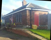 The surviving building at Haddington station is now the home of Lamp House Music.<br><br>[John Yellowlees&nbsp;22/10/2017]