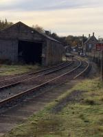 Keith Junction Excursion Platform looking towards Keith Town on 7th November 2017. This is now mainly used for stabling of the Royal Scotsman train.<br> <br> <br><br>[Caleb Abbott&nbsp;07/11/2017]