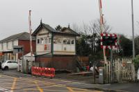 <I>Progress has a sad side.</I> The little gate box at Carleton Crossing is dismantled by contractors on 21st November 2017, ten days after it signalled its last train. It is believed the roof section was removed to allow the small lever frame to be lifted out and the various instruments have been  recovered for use elsewhere. Blackpool No.2 was the first box to be demolished and the contractors are expected to move on to Poulton No.3 after this task.<br><br>[Mark Bartlett 21/11/2017]