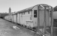 Converted Gresley ADE320692 alongside the carriage shed at Perth in 1988.<br> <br> <br><br>[Bill Roberton&nbsp;//1988]