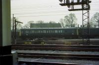 Single unit railcar in departmental service number TDB 975227, sits in the sidings at the south west side of Preston station on 27 March 1974.<br><br>[John McIntyre&nbsp;27/03/1974]