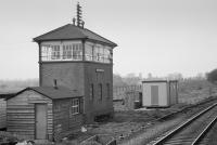Aynho Junction Signal Box, viewed from the south. Decommissioned in 1992.<br><br>[Bill Roberton&nbsp;//1986]