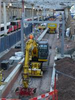 Tracklaying has been completed on the Platform 12 extension at Edinburgh Waverley, seen here on 28th November 2017.<br> <br> <br><br>[Bill Roberton&nbsp;28/11/2017]