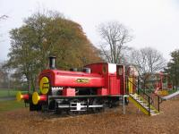 This photograph is in Seaton Park, Aberdeen. The loco appears to be the former Gas Board engine which worked the dock railway system. [See image 38697]<br><br>[David Spaven&nbsp;13/11/2017]