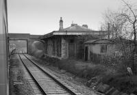 Ayhno Station, closed on 2 November 1964. Viewed from the north. The building still stands.<br><br>[Bill Roberton&nbsp;//1986]