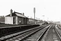 The view north at Inveramsay station in 1961. The Macduff platform lines are shown. Further to the left were the mainline platforms. The branch closed to passengers in 1951 (Inveramsay closing with it) and altogether in 1966.<br><br>[David Murray-Smith&nbsp;//1961]