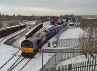 DRIFTs at DIRFT: DRS loco' 66.434 loads its train at the Tesco sidings. 68.003 can be seen in the background.<br><br>[Ken Strachan&nbsp;12/12/2017]