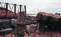 Last remnants of the Solway Viaduct at the south end in 1997.<br><br>[Ewan Crawford&nbsp;//1997]