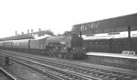 Locally based A1 Pacific no 60157 <I>Great Eastern</I> arrives at Doncaster on 6 July 1963 with the summer Saturday 10.25am Kings Cross - Scarborough.<br><br>[K A Gray&nbsp;06/07/1963]