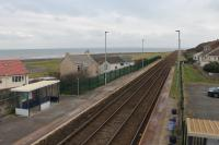 Harrington station, looking northwards from the footbridge in November 2017. An overcast day but the coast of Scotland is just visible across the Solway. This is a request stop so I didn't risk photographing the southbound Class 37 but went down to the platform and flagged it down - a first for me. <br><br>[Mark Bartlett&nbsp;17/12/2017]