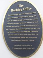 Plaque displayed at <I>The Booking Office</I> on Waverley Bridge. 15th December 2017.<br> <br><br>[John Yellowlees&nbsp;15/12/2017]