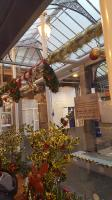 Christmas decorations at Ayr station in December 2016.<br><br>[John Yellowlees&nbsp;14/12/2016]