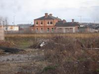 An alternate view, looking east from Finkills Way, of the former Northallerton Town Station, seen across a still undeveloped area of land just off Yafforth Road in December 2017.<br><br>[David Pesterfield&nbsp;03/12/2017]