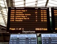 Six departures in the next hour and a half? It can only be New Year's Day<br> when no ScotRail services run. You're OK if you live in Dunbar or Lockerbie<br> though.<br> <br><br>[David Panton&nbsp;01/01/2018]