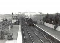BR Standard tank 80121 entering Tillynaught Junction on 18 August 1960 with a train destined for Elgin via the coast.   <br><br>[G H Robin collection by courtesy of the Mitchell Library, Glasgow&nbsp;18/08/1960]
