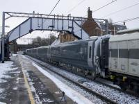 The first of the new Mk 5 Caledonian Sleeper stock passing through Uddingston on the delivery run on 16th January 2018. These are due to be introduced in to service from October 2018.<br><br>[Colin McDonald&nbsp;16/01/2018]