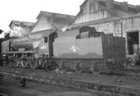 Bulleid West Country Pacific 34093 <I>Saunton</I> on shed at Nine Elms in October 1964.<br><br>[K A Gray&nbsp;23/10/1964]