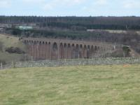 Culloden Viaduct pictured on a lovely Spring day, 9th March 2015.<br><br>[Gordon Steel&nbsp;09/03/2015]
