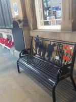 <I>Lest we forget</I>. A new memorial bench, provided by Carillion Rail, at Waverley.<br> <br> <br><br>[John Yellowlees&nbsp;27/11/2017]