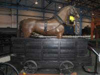One horse power in the NRM. A 19th century Dandy Cart used to give horses a rest when heading down hill with wagons that the they had pulled uphill. <br><br>[John McIntyre&nbsp;16/06/2017]