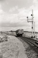 Railbus from Crieff approaching  Gleneagles station in 1961.<br><br>[David Murray-Smith&nbsp;26/08/1961]