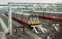 303091 and another 303 stabled at Yoker Depot in 2002.<br> <br><br>[Bill Roberton&nbsp;//2002]