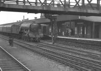 A3 Pacific 60063 <I>Isinglass</I> non-stop through Doncaster with a Kings Cross bound ECML service in the summer of 1961. <br><br>[K A Gray&nbsp;29/07/1961]