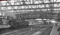 A general view south through Carlisle station on 5 August 1960. The locomotive on the left is class 2P 4-4-0 no 40623. <br><br>[K A Gray&nbsp;05/08/1960]