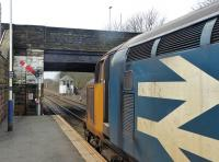 37401 <I>Mary Queen of Scots</I> pulls away from Millom with a Barrow to Carlisle service on 19th February 2018.  <br><br>[Mark Bartlett&nbsp;19/02/2018]