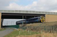 Training of Barrow drivers on the Class 158s has continued in February ahead of their introduction on Furness line trains from May 2018. Former Scotrail 158870 passes Morecambe South Junction on a return working from Barrow Carriage Sidings to Preston on 22nd February.  <br><br>[Mark Bartlett&nbsp;22/02/2018]