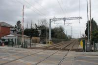 All wiring complete now at Carleton Crossing. This view looks towards Blackpool on 2nd March 2018 and this particular location now seems ready for the return of trains in just over three weeks time. <br><br>[Mark Bartlett 02/03/2018]