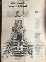 A poignant cutting from the Scotsman newspaper of September 1968. A piece by David Steel MP.  'We need our lifeline! The Borders are a Development Area - Don't axe our only rail link.' 'This is not just our fight - it is Scotland's fight. Please give your support.'<br><br>[Bruce McCartney Collection&nbsp;13/09/1968]