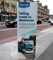 Public consultation on the tram extension to Newhaven opens soon. No doubt several weeks of bad tempered debate to be followed by years recrimination either way. The original plan was to have the line open to Newhaven in 2011: will it arrive within 10 years of this? Notice seen at Shrubhill on 12 March.<br><br>[David Panton&nbsp;12/03/2018]