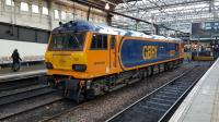 I was surprised to see GBRf 92028 stabled on the centre siding at Waverley on 7th March 2018.<br> <br><br>[David Prescott&nbsp;07/03/2018]
