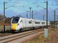 Unbranded 801101 passes St Germains with an Edinburgh - Doncaster training run.<br><br>[Bill Roberton&nbsp;19/03/2018]
