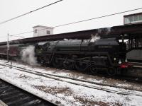 70013 <I>Oliver Cromwell</I>, newly arrived in York on 3rd March 2018 with a rail tour from Ealing Broadway, its last before withdrawal for overhaul. The <I>Yorkshireman</I> excursion ran via Bedford and Corby.<br> <br> <br><br>[Duncan Ross&nbsp;03/03/2018]
