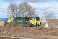 Freightliner 70017, eastbound from Oxford bound for Southampton with an intermodal service on 8th March 2018.<br> <br><br>[Peter Todd 08/03/2018]