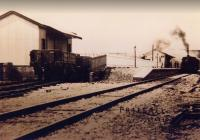Preesall station, looking towards Knott End, taken sometime soon after the 1908 opening of the line from Pilling. A dumb buffered wagon is on some apparently hastily laid rails outside the goods shed although the vehicle behind it sits at an odd angle - perhaps these were contractors wagons rather than regular goods stock? 0-6-0T <I>Knott End</I> is calling at the station with a Garstang bound train. <br><br>[Knott End Collection&nbsp;//1908]