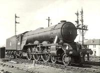 Haymarket A3 Pacific 60043 <I>Brown Jack</I> photographed on shed at Eastfield in the summer of 1955, doubtless making preparations to take another Edinburgh Waverley turn out of Queen Street later that day.   <br><br>[G H Robin collection by courtesy of the Mitchell Library, Glasgow&nbsp;04/07/1955]