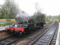 A visitor to the Bluebell Railway in 2008 - 'Large Prairie' 2-6-2T No.5199.<br><br>[Hamish Baillie&nbsp;30/10/2008]