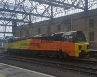 Colas Rail General Electric Class 70, 70814, at Carlisle.  Rather a dumpy?<br><br>[John Yellowlees&nbsp;18/03/2018]
