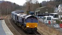 66302 entering Pitlochry from the north. [[See image 48763]] same loco!<br><br>[David Prescott&nbsp;22/03/2018]